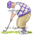 Big Guy Golfing