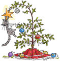 Cat's in the Christmas Tree