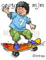 Whoosh! Skateboarding Boy