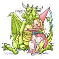 Dragon Hugs Girl