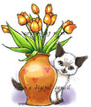 Boo and Tulips