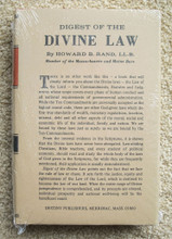 Digest Of The Divine Law by Dr. Howard B. Rand. LL.D.