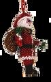 Santa Claus with bag.