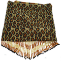 Large Leopard Beaded Bag
