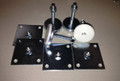 Set of 4 GLIDE RITE Leg Levelers & 4 Mounting Plates