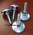 Set of 4 Heavy Duty Leg Levelers with Nuts