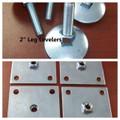 """Set of 4 ~  2"""" Leg Levelers &  Mounting Plates"""