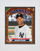 Mariano Rivera Baseball Card Pose Matted 8x10