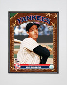 Joe Dimaggio Baseball Card Pose Matted 8x10