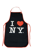 I Love NY Black Apron With Red Wired Rim