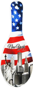 NYC American Flag Ceramic Spoon Rest