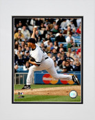 Mariano Rivera Delivering Profile Matted 8x10