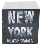 NYC Word Cut Out Paper Cube