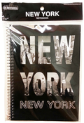 New York Word Cut Out Spiral Notebook