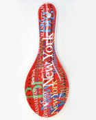 NYC Colorful Ceramic Spoon Rest- Red