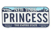 Princess Bike Plate