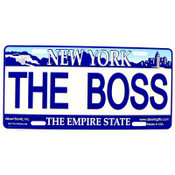 The Boss NY License Plate