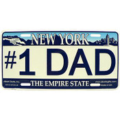 #1 Dad NY License Plate
