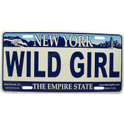 Wild Girl NY License Plate