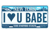I Love You Babe License Plate