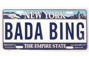 Bada Bing NY License Plate