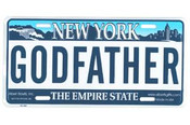 Godfather NY License Plate