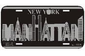 Manhattan Buildings License Plate