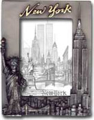 NY Skyline Pewter Picture Frame #1