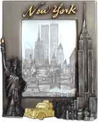 NY Skyline Pewter Picture Frame #2