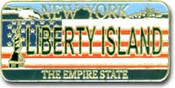 Liberty Island License Plate Magnet