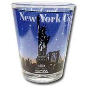 NYC Skyline Blue Shotglass