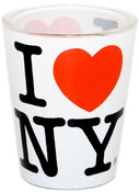 I Love NY White Shotglass