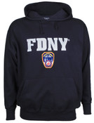 FDNY Embroidered Navy Hooded Sweatshirt