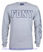 FDNY Grey LS Tee - front