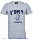 FDNY Full Chest Ash / Navy Tee
