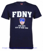 FDNY Full Chest color  Navy Tee