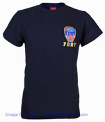 FDNY Embroidered Patch Navy Tee