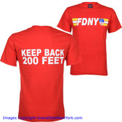 FDNY Keep Back 200 Ft. Red Tee