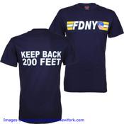 FDNY Keep Back 200 Ft. Navy Tee