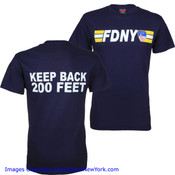 FDNY Keep Back 200 Ft. Navy Tee