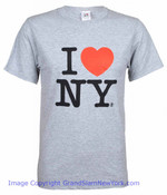 grey I Love NY Tee Shirt