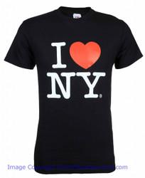 Black I Love NY Tee Shirt