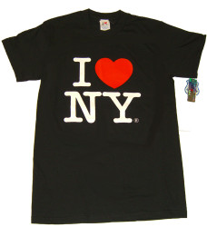 Black I Love NY Tee Shirt