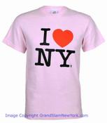 Pink I Love NY Tee Shirt