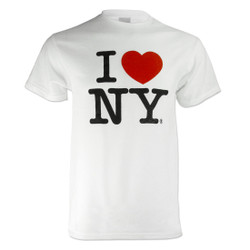 White I Love NY Tee Shirt