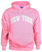 New York Pink Hooded Sweatshirt