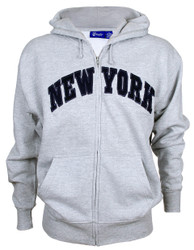 New York Ash Zipper Hoodie
