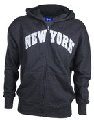 New York Charcoal Zipper Hoodie