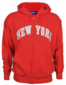 New York Red Zipper Hoodie