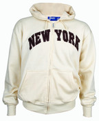 New York Tan Zipper Hoodie